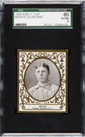 Baseball Cards:Singles (Pre-1930), 1909 T204 Ramly Mordecai Brown SGC 80 EX/NM 6....