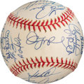 Baseball Collectibles:Balls, 1997 Florida Marlins Team Signed Baseball. ...