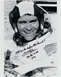 Autographs:Celebrities, Fred Haise Signed Apollo 13 Pre-Mission Photo....