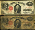 Large Size:Legal Tender Notes, Two Fr. 39 $1 1917 Legal Tender Notes Good or Better.. ... (Total:2 notes)