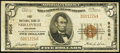 National Bank Notes:Wisconsin, Neillsville, WI - $5 1929 Ty. 1 The First NB Ch. # 9606. ...
