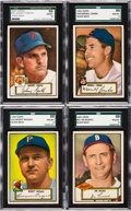 Baseball Cards:Lots, 1952 Topps Baseball SGC 88 NM/MT 8 Low Number Collection (4). ...