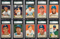 Baseball Cards:Lots, 1952 Topps Baseball SGC 84 NM 7 Low Number Collection (10). ...