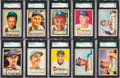 Baseball Cards:Lots, 1952 Topps Baseball SGC 86 NM+ 7.5 Collection (23). ...
