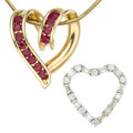 Estate Jewelry:Lots, Diamond, Ruby, Gold Jewelry. ... (Total: 3 Items)