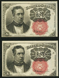 Fractional Currency:Fifth Issue, Fr. 1266 10¢ Fifth Issue Choice Two Examples About New.. ...(Total: 2 notes)