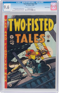 Two-Fisted Tales #34 Gaines File Pedigree 10/11 (EC, 1953) CGC NM+ 9.6 Off-white to white pages