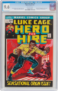 Hero for Hire #1 (Marvel, 1972) CGC NM+ 9.6 Off-white pages