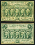 Fractional Currency:First Issue, Fr. 1312 50¢ First Issue Two Examples Fine, staining.. ... (Total: 2 notes)