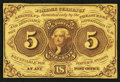 Fractional Currency:First Issue, Fr. 1231SP 5¢ First Issue Narrow Margin Face Choice New.. ...