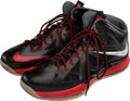 Basketball Collectibles:Others, 2012-13 LeBron James Game Worn Sneakers, MEARS Authentic. ...