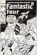 Original Comic Art:Covers, John Buscema, John Romita, and Frank Giacoia Fantastic Four#114 Cover Original Art (Marvel, 1971)....