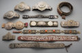 Tribal Art, A Group of Twelve Turkoman or Tibetan Belts and EquestrianAccoutrements. ...