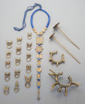 Tribal Art, A Group of Twenty African Brass and Beaded Jewelry Pieces. ...(Total: 20 Items)