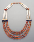 Tribal Art, An African Bone and Bead Necklace. ...