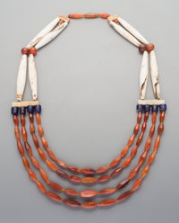 An African Bone and Bead Necklace