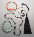 Tribal Art, Four Coral, Turquoise, and Beaded Necklaces. ... (Total: 4 Items)
