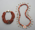 Tribal Art, Two African Agate and Bead Necklaces. ... (Total: 2 Items)