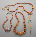Tribal Art, Three Tibetan Bead Necklaces. ... (Total: 3 Items)