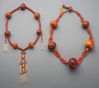 Two Tibetan Bead Necklaces