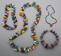 Jewelry:Necklaces, Four African Glass Bead Necklaces. ...