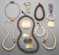 Tribal Art, A Group of Various Tibetan and African Necklaces and Jewelry Items.... (Total: 12 Items)