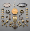 Tribal Art, A Large Group of Southeast Asian Brass and Niello JewelryArticles...