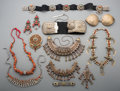 Tribal Art, A Large Group of Pakistani and Tibetan Coral and Silvered MetalJewelry. ...