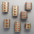 Tribal Art, Seven Turkoman or Pakistani Cuff Bracelets. ... (Total: 7 Items)