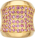 Estate Jewelry:Rings, Pink Sapphire, Gold Ring . ...