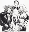 Original Comic Art:Splash Pages, Mike Deodato Jr. X-Men Unlimited #34 Pin-Up Page OriginalArt (Marvel, 2002)....