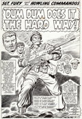 Original Comic Art:Splash Pages, Dick Ayers and Carl Hubbell Sgt. Fury #26 Splash Page 1Original Art (Marvel, 1966)....