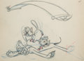 Animation Art:Production Drawing, Puss Cafe Pluto and Alley Cats Animation Drawing (WaltDisney, 1950)....