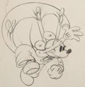 Animation Art:Production Drawing, Mickey's Elephant Mickey Mouse Animation Drawing (WaltDisney, 1936). ...