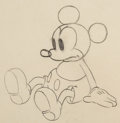 Animation Art:Production Drawing, Mickey's Nightmare Mickey Mouse Animation Drawing (WaltDisney, 1932). ...