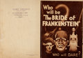 "Movie Posters:Horror, The Bride of Frankenstein (Universal, 1935). Herald (Closed: 7"" X9.75"", Open: 9.75"" X 14"").. ..."