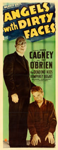 "Movie Posters:Crime, Angels with Dirty Faces (Warner Brothers, 1938). Linen Finish Insert (14"" X 36"").. ..."