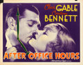 "Movie Posters:Drama, After Office Hours (MGM, 1935). Half Sheet (22"" X 28"").. ..."