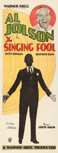 "Movie Posters:Musical, The Singing Fool (Warner Brothers, 1927). Insert (14"" X 36"").. ..."
