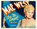 "Movie Posters:Comedy, I'm No Angel (Paramount, 1933). Half Sheet (22"" X 28"") Style B.. ..."