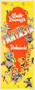 "Movie Posters:Animation, Fantasia (RKO, 1940). Insert (14"" X 36"").. ..."