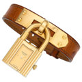Estate Jewelry:Watches, Hermes Lady's Stainless Steel, Leather Watch. ...