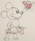 Animation Art:Production Drawing, Society Dog Show Mickey Mouse Animation Drawing (Walt Disney, 1939). ...