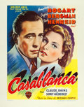 "Movie Posters:Academy Award Winners, Casablanca (Warner Brothers, 1947). First Post-War Release Belgian(12"" X 15.5"").. ..."