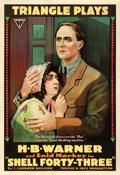 "Movie Posters:Drama, Shell Forty-Three (Triangle, 1916). One Sheet (28""..."