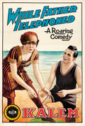 """Movie Posters:Comedy, While Father Telephoned (Kalem, 1913). One Sheet (27.5"""" X 40.75"""")....."""