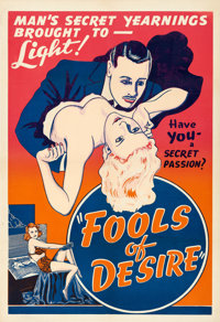 "It's All in Your Mind (Jay-Dee-Kay Productions, 1938). One Sheet (28.5"" X 41"") AKA Fools of Desire"