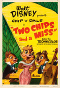 "Movie Posters:Animation, Two Chips and a Miss (RKO, 1952). One Sheet (27"" X 41"").. ..."