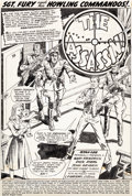 Original Comic Art:Splash Pages, Dick Ayers and John Severin Sgt. Fury and His HowlingCommandos #51 Splash Page 1 Original Art (Marvel, 1968)....