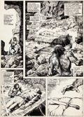 Original Comic Art:Panel Pages, John Buscema and Alfredo Alcala Savage Sword of Conan #15Story Page 7 Original Art (Marvel, 1976)....